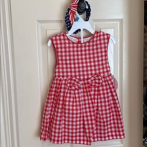 Little Girls Red White /& Blue Poncho for 18-24 Months